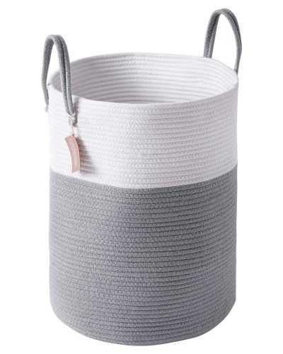 YOUDENOVA Woven Laundry Hamper - Cotton Rope Laundry Baskets