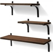 Ophanie Floating Shelves Wall Mounted, Rustic Wood Wall Storage Shelves