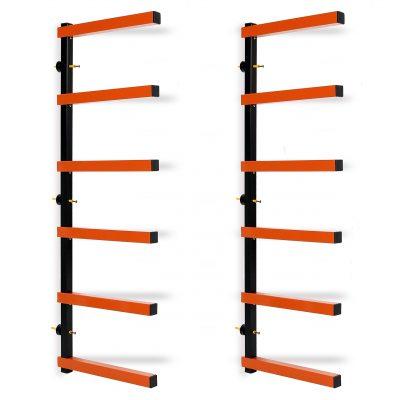 Lumber Storage Rack Wall-Mounted both Indoor and Outdoor