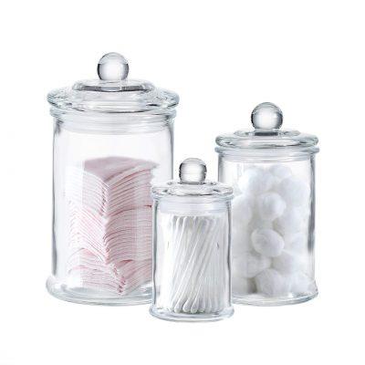 Jar-Bathroom Storage Organizer Canisters