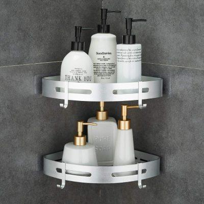 Corner Caddy Bathroom Shower Shelf Wall Mounted