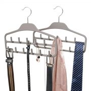 Belt Hanger Organizer 2 Pack, Non Slip Tie Rack Holder
