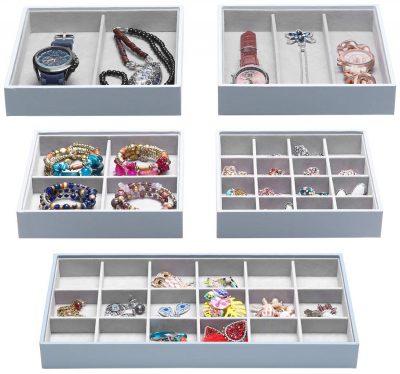 Magic Stackable Jewelry Trays Closet Dresser Drawer Organizer