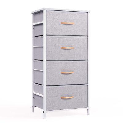 Drawer Fabric Dresser Storage Tower, Organizer Unit for Bedroom