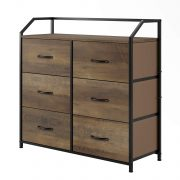 HOMECHO Fabric Dresser with 6 Drawers