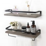 AUTREE Rustic Floating Wall Shelves, Rustic Wood Wall Shelves Storage Set
