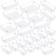 Puroma 24Pcs Desk Drawer Organizer Set 5-size