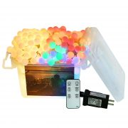Outdoor String Lights, Globe Color Changing Christmas Lights