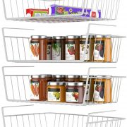 Wire Baskets Under Shelves Storage Rack