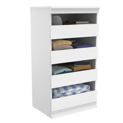 Modular Closet Storage Stackable Unit with 4-Drawers