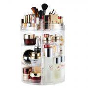 Makeup Organizer, 360 Degree Rotating Adjustable Cosmetic Storage