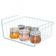 Smart Design Undershelf Storage Basket - Small - Snug Fit Arms