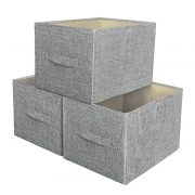 MAIMASHI Storage Basket for Shelves, 3 Pack Open Storage Bins