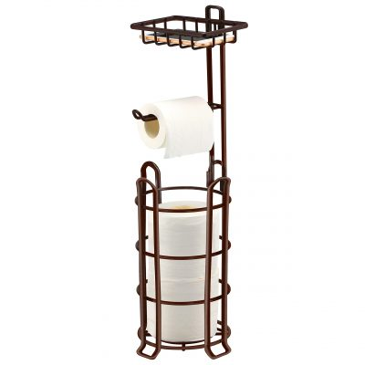 TomCare Toilet Paper Holder Toilet Paper Stand 4 Raised Feet Bathroom