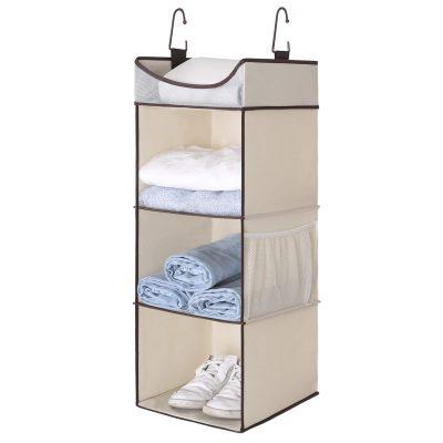 3-Shelf Hanging Closet Organizer Hanging Closet Shelves with Top Shelf