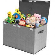 Toy Chest Storage Organizer with Flip-Top Lid