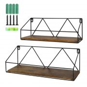 Wood Floating Storage Shelves for Kitchen