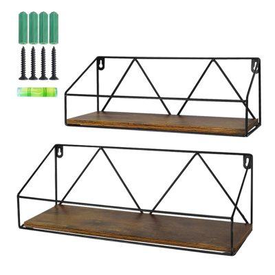 Wood Floating Storage Shelves for Kitchen