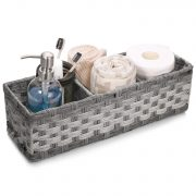 [Larger Compartments] Toilet Paper Basket for Tank Topper