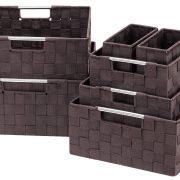 Woven Basket Bin Container Tote Cube Organizer Set