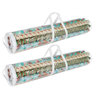 Gift Wrap Storage Bags Holds 40-Inch Rolls of Paper