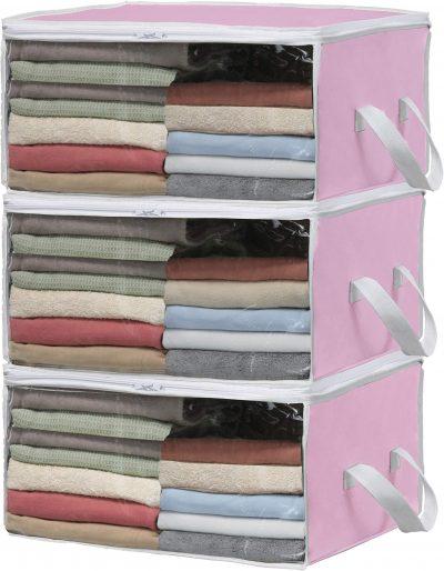 Simple Houseware 3 Pack Foldable Closet Organizer