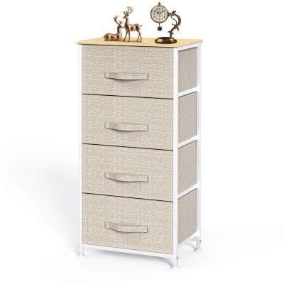 4 Drawer Fabric Dresser Storage Tower