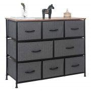 8 Drawer Dresser Organizer Fabric Storage Chest