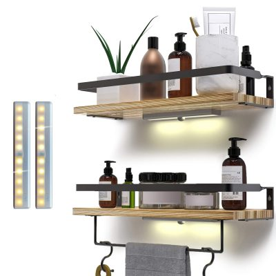 Rustic Floating Shelves Wall Mounted Set