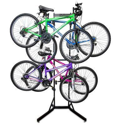 RaxGo Bike Storage Rack, 4 Bicycle Garage Floor Stand