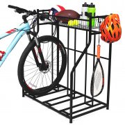 BirdRock Home 3 Bike Stand Rack with Storage