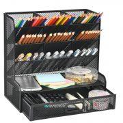 Marbrasse Mesh Desk Organizer, Multi-Functional Pen Holder
