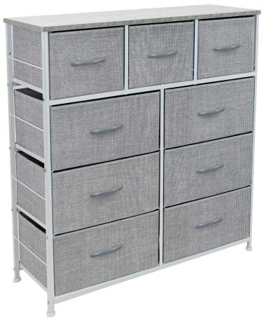 Sorbus Dresser with 9 Drawers - Furniture Storage Chest Tower