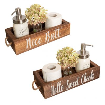 Funny Toilet Paper Holder Perfect for Farmhouse