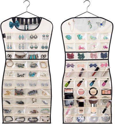Hanging Jewelry Organizer 80 Clear Pockets