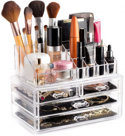 Clear Cosmetic Storage Organizer Jewelry and Hair Accessories